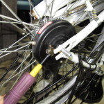 ママチャリ、軽快車後輪のタイヤ(チューブ)交換